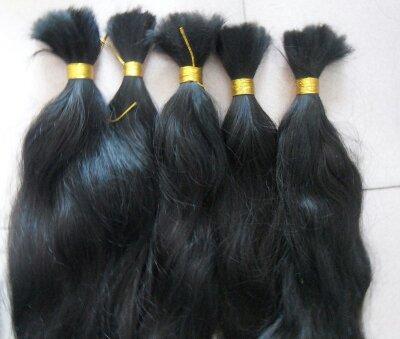 Bulk Hair Extensions made from unprocessed virgin human hair