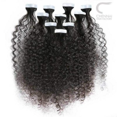 Kinky Curly Tape in Hair Extensions
