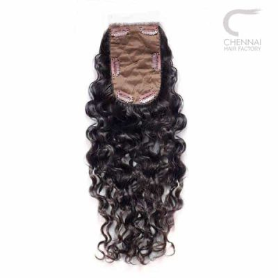 Clip On Closure - Curly Remy Hair Extension