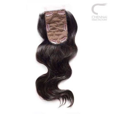 Clip on closure - wavy hair extension
